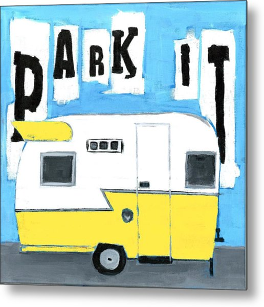 Park It-yellow Metal Print