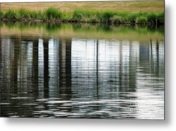Park Reflections Metal Print