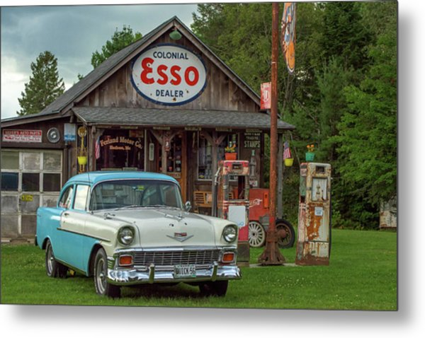 Parked At Ferland Motor Company Metal Print