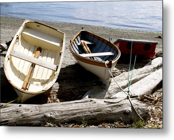 Parked Boats Metal Print by Sonja Anderson
