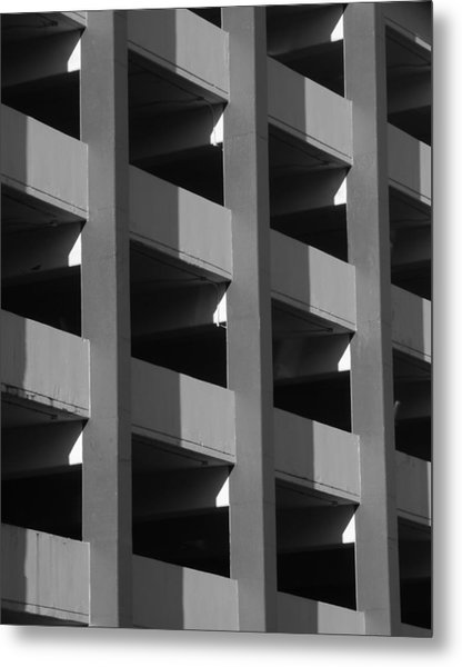 Parking Garage Milwaukee Abstract 2334 Metal Print