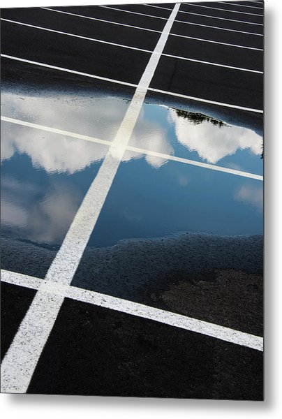 Parking Spaces For Clouds Metal Print