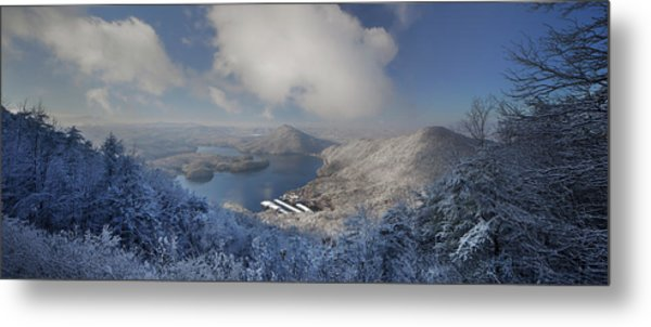 Parksville Lake Snowy Overlook Metal Print