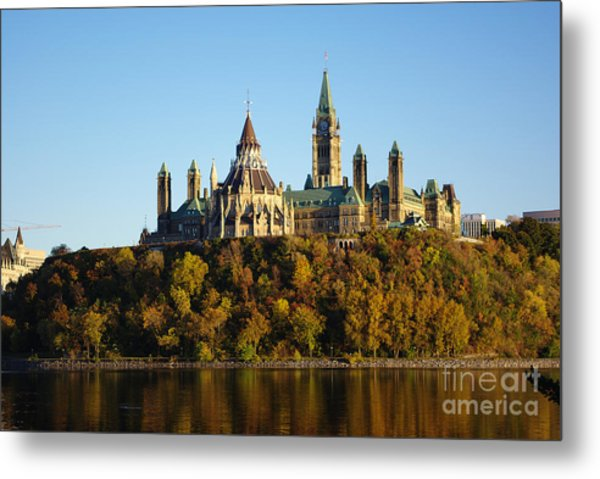 Parliament Hill In Ottawa, Canada Metal Print