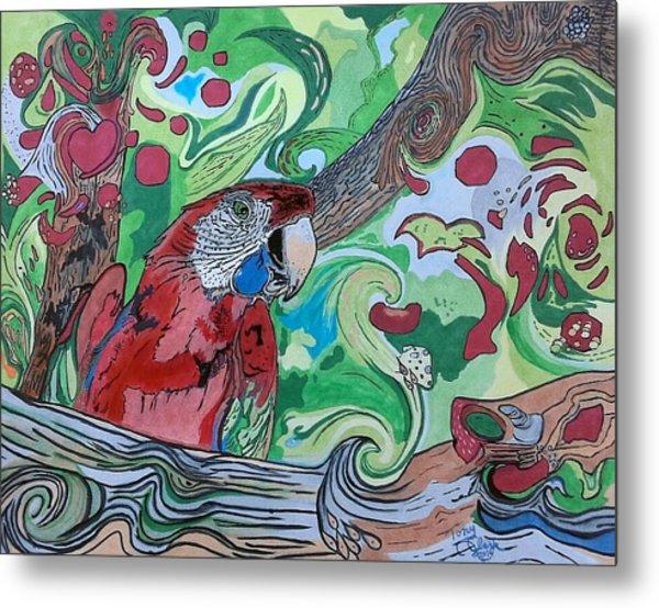 Parrot Kaleidoscope  Metal Print