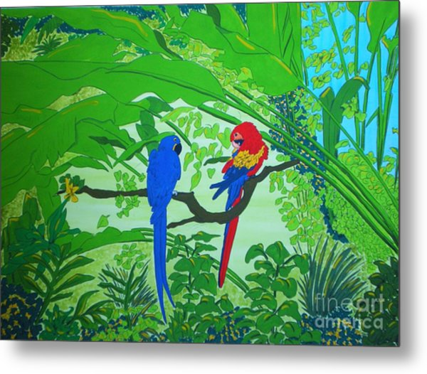 Parrots Metal Print by Michaela Bautz