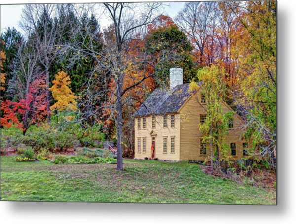 Parson Barnard House In Autumn Metal Print