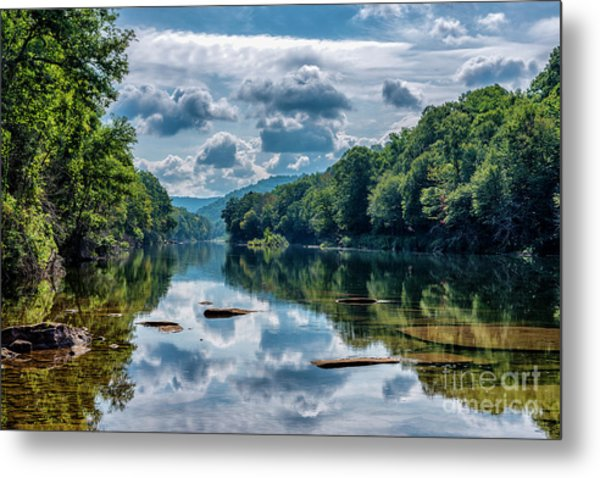 Partially Cloudy Gauley River Metal Print