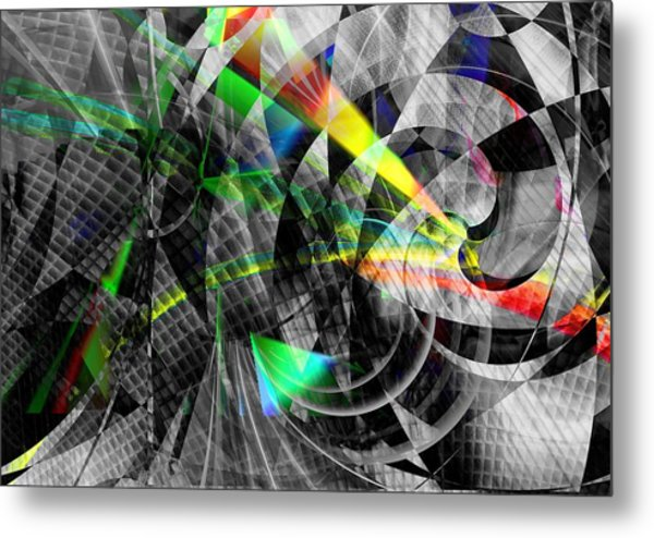 Particles Of Light Dancing Metal Print
