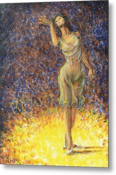Parting Dancer Metal Print