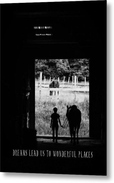 Partners Quote Metal Print by JAMART Photography
