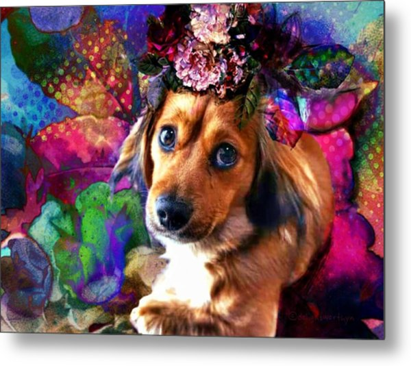 Metal Print featuring the digital art Party Animal by Delight Worthyn
