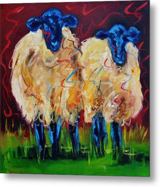 Party Sheep Metal Print