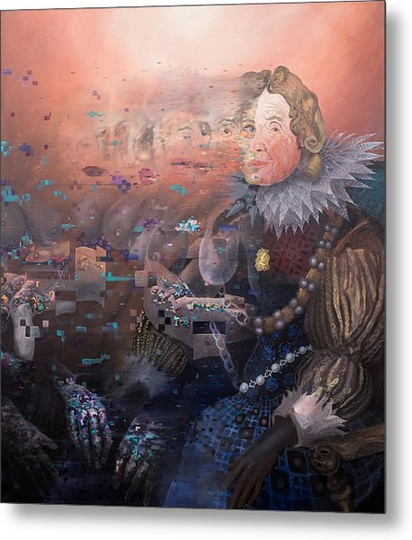 Metal Print featuring the painting Passing Beauty by Obie Platon