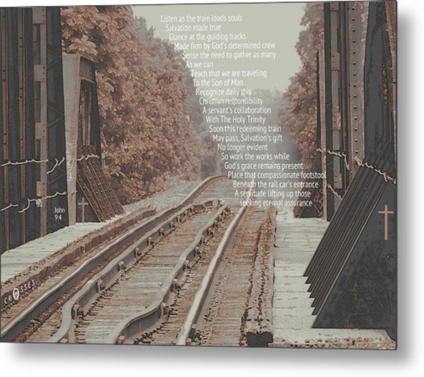 Passing Through Metal Print by David  Norman