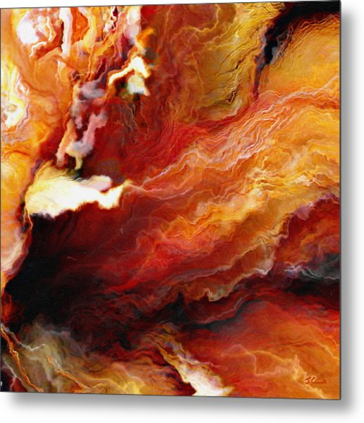 Passion - Abstract Art - Triptych 3 Of 3 Metal Print