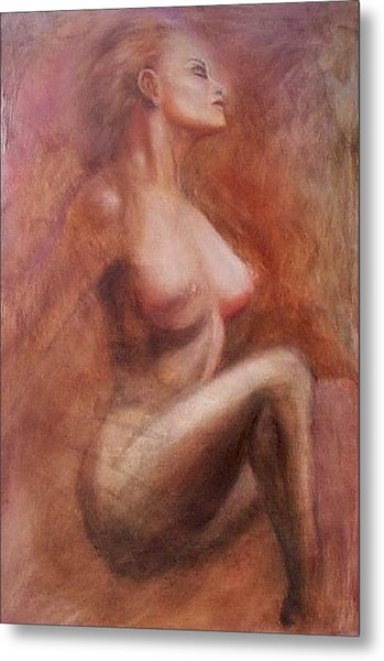 Passionate Woman Metal Print by Elizabeth Silk
