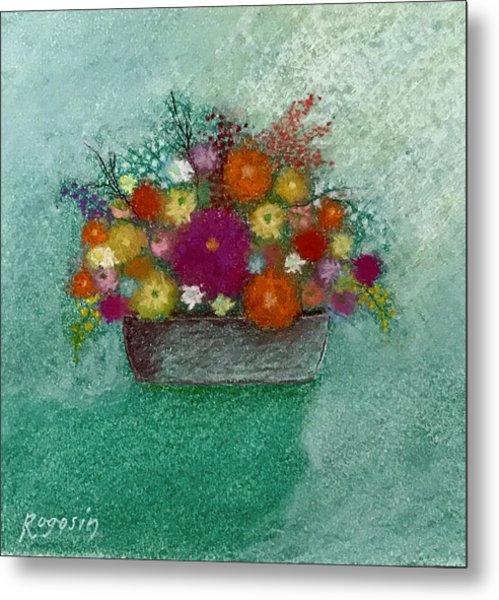 Pastel Flowers Metal Print by Harvey Rogosin