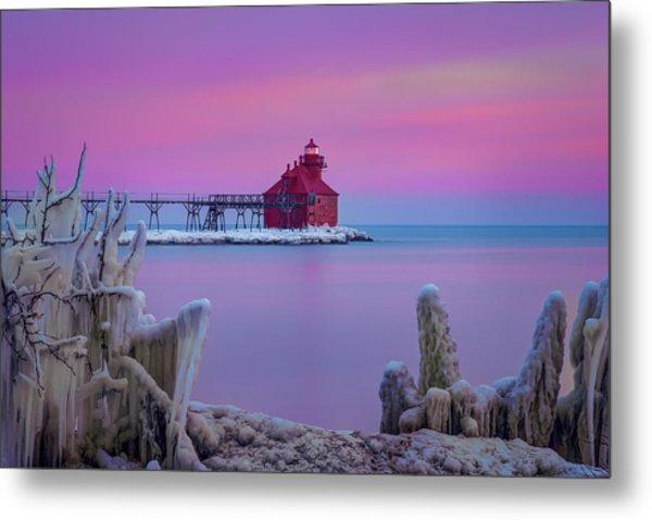 Pastel Lighthouse Metal Print