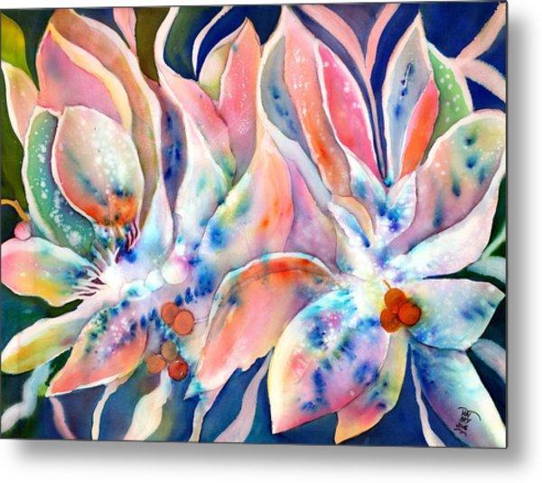 Pastel Lily Flowers Metal Print