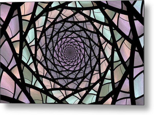 Pastel Stained Glass  Metal Print