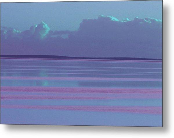 Pastel Sunset Sea Lilac Metal Print