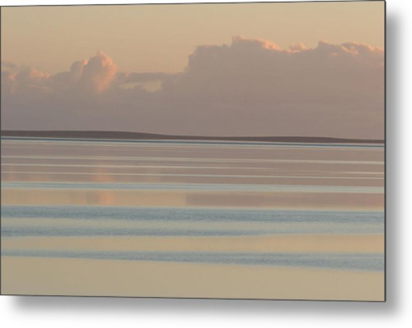 Pastel Sunset Sea Original Metal Print