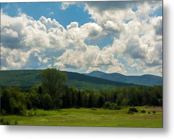 Pastoral Landscape With Mountains Metal Print