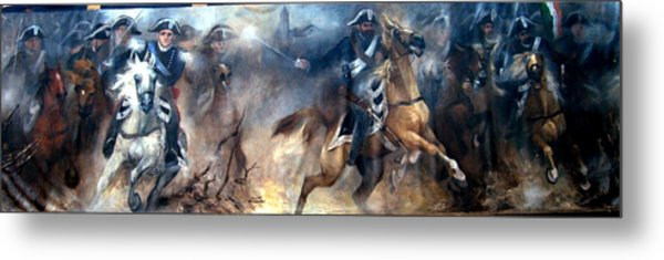 Pastrengo - The Charge II Metal Print by Elisabeth Nussy Denzler von Botha