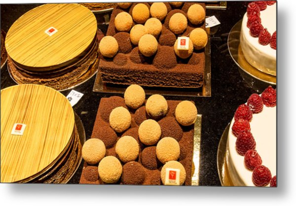 Pastry And Cakes In Lyon Metal Print