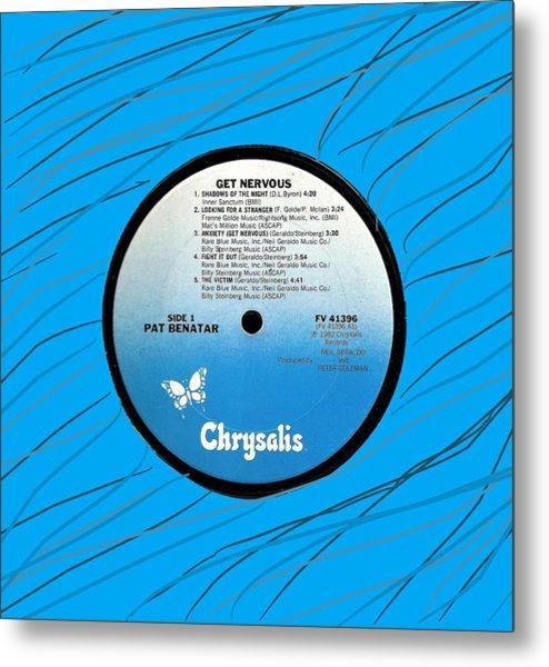 Pat Benatar Get Nervous Lp Label Metal Print