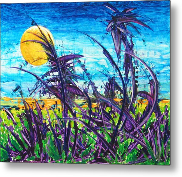Patch Of Field Grass Metal Print by Rollin Kocsis