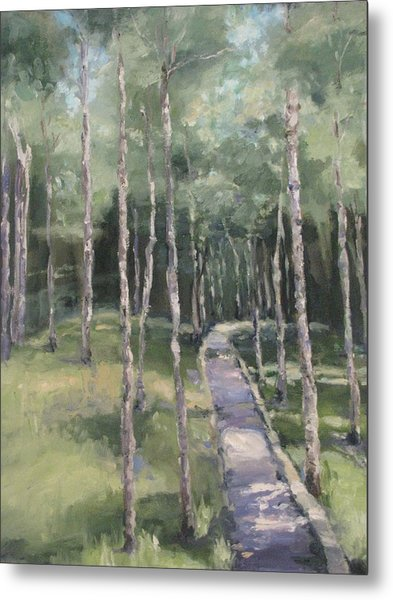 Path Into The Woods Metal Print
