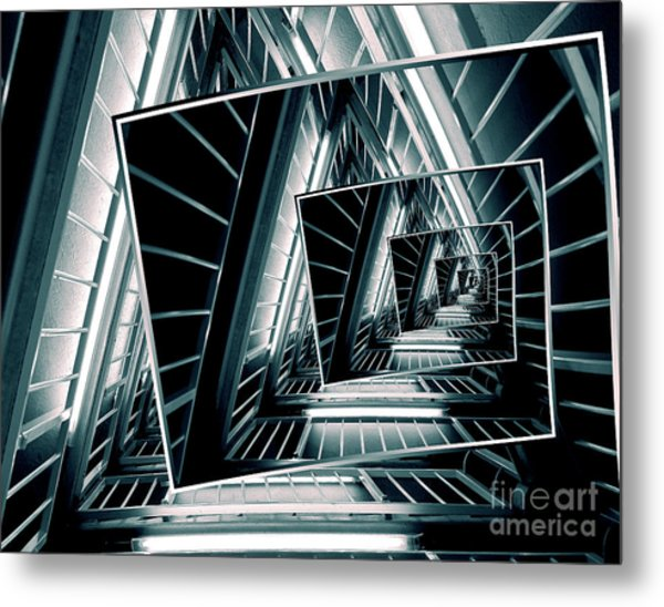 Path Of Winding Rails Metal Print