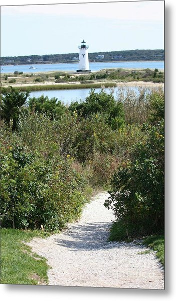 Path To Edgartown Lighthouse Metal Print