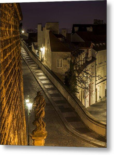 Path To Prague Castle Metal Print by Marek Boguszak