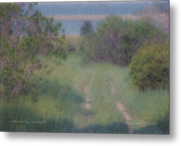 Path To The Sea - Duxbury Ma Metal Print