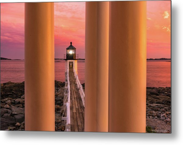 Metal Print featuring the photograph Marshall Point - Beacon Of Light by Expressive Landscapes Fine Art Photography by Thom