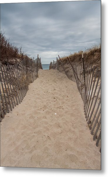 Pathway To The Beach Metal Print