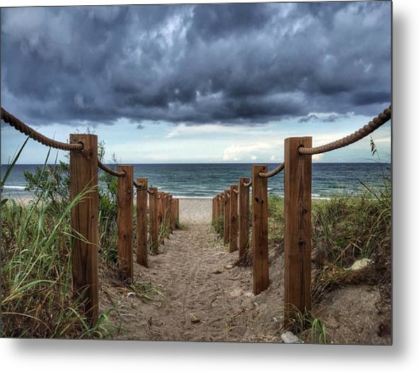 Pathway To The Clouds Metal Print