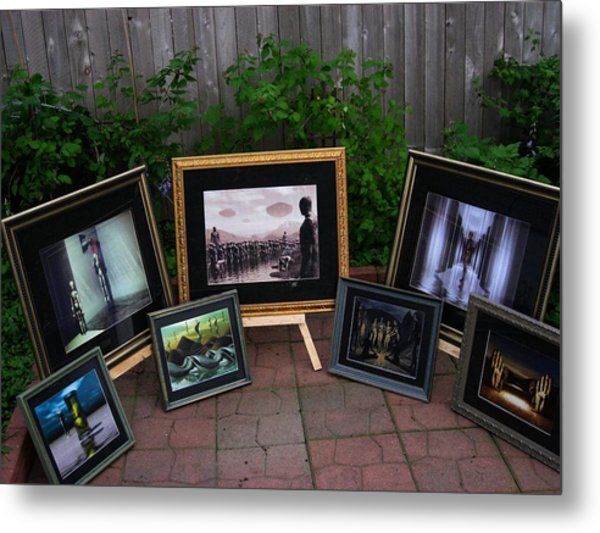 Patio Art Show Metal Print