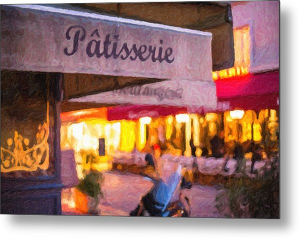 Patisserie - Paris Art Print Metal Print
