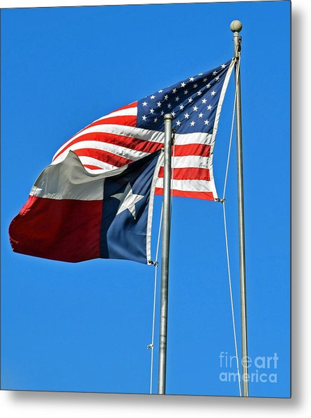 Patriot Proud Texan  Metal Print