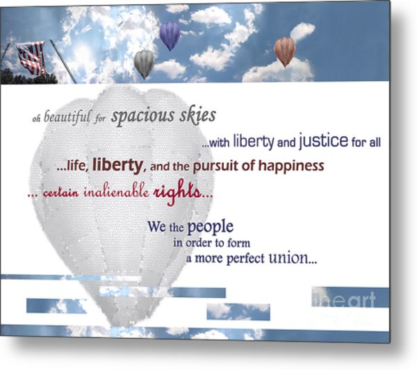 Patriotic Art I Metal Print