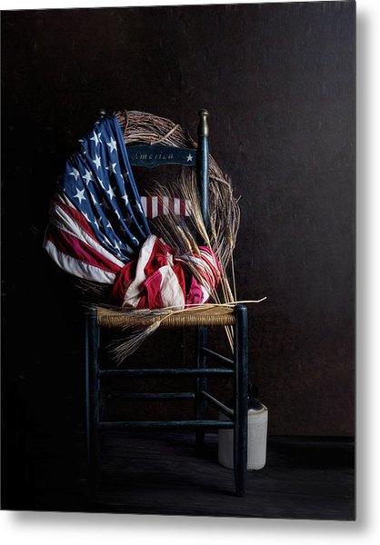 Patriotic Decor Metal Print