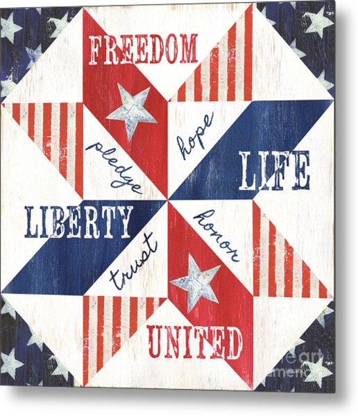 Patriotic Quilt 1 Metal Print