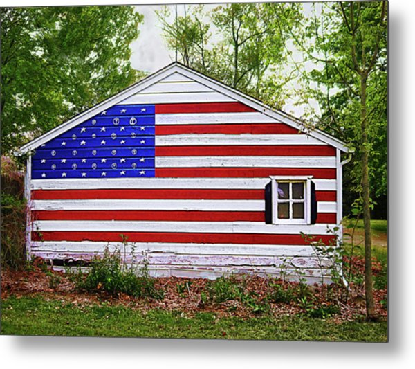 Patriots Garage Metal Print