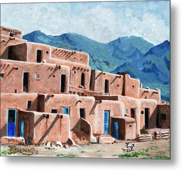 Patrolling The Pueblo Metal Print