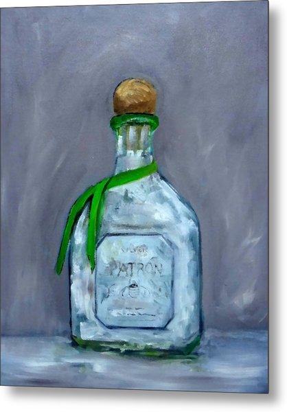 Patron Silver Tequila Bottle Man Cave  Metal Print