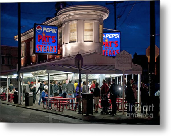 Pat's Steaks Metal Print